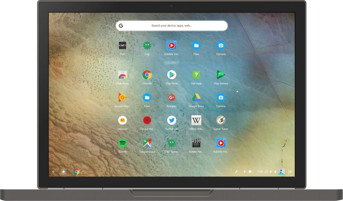 chrome os modo tablet