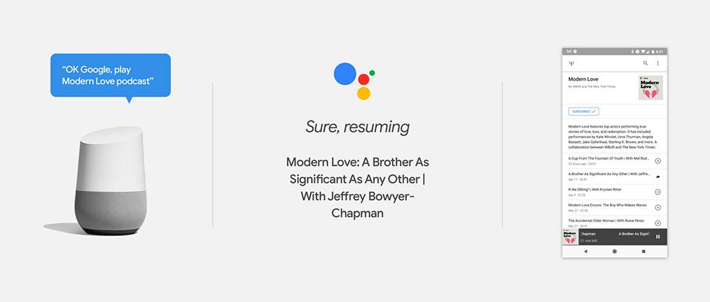 usar aplicación podcast google