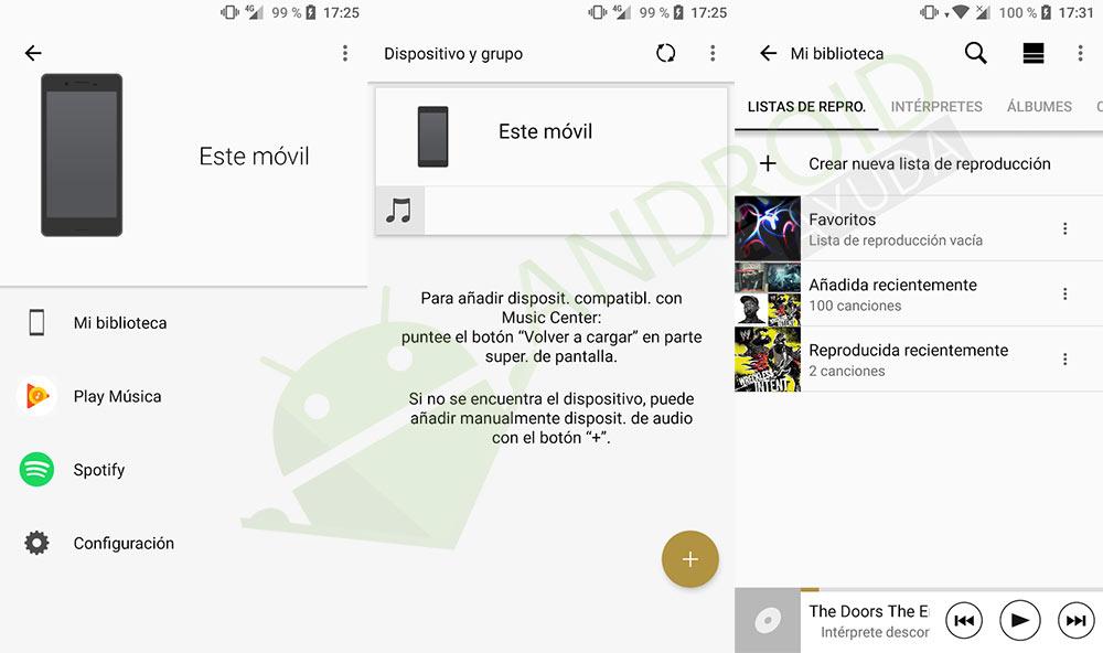 aplicación de música de Sony