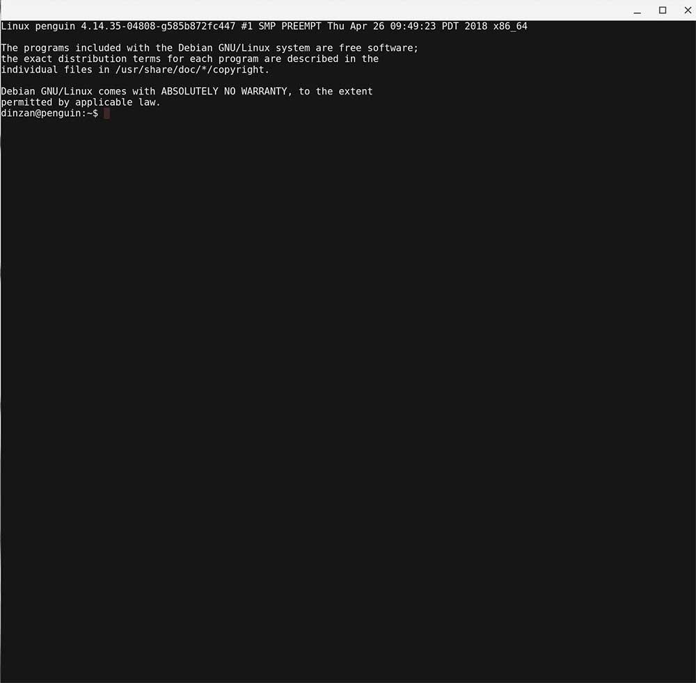 activar las aplicaciones de Linux en Chrome OS