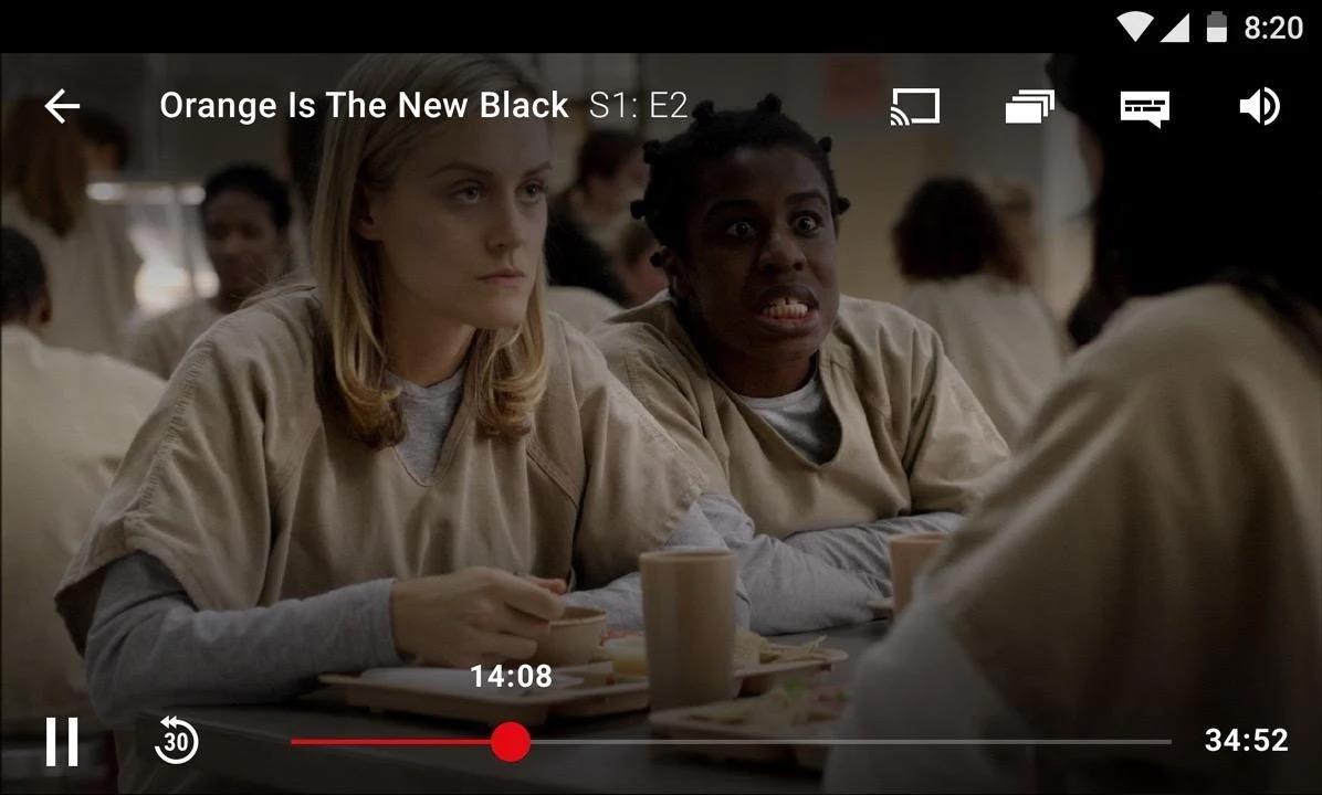 Antigua interfaz de Netflix