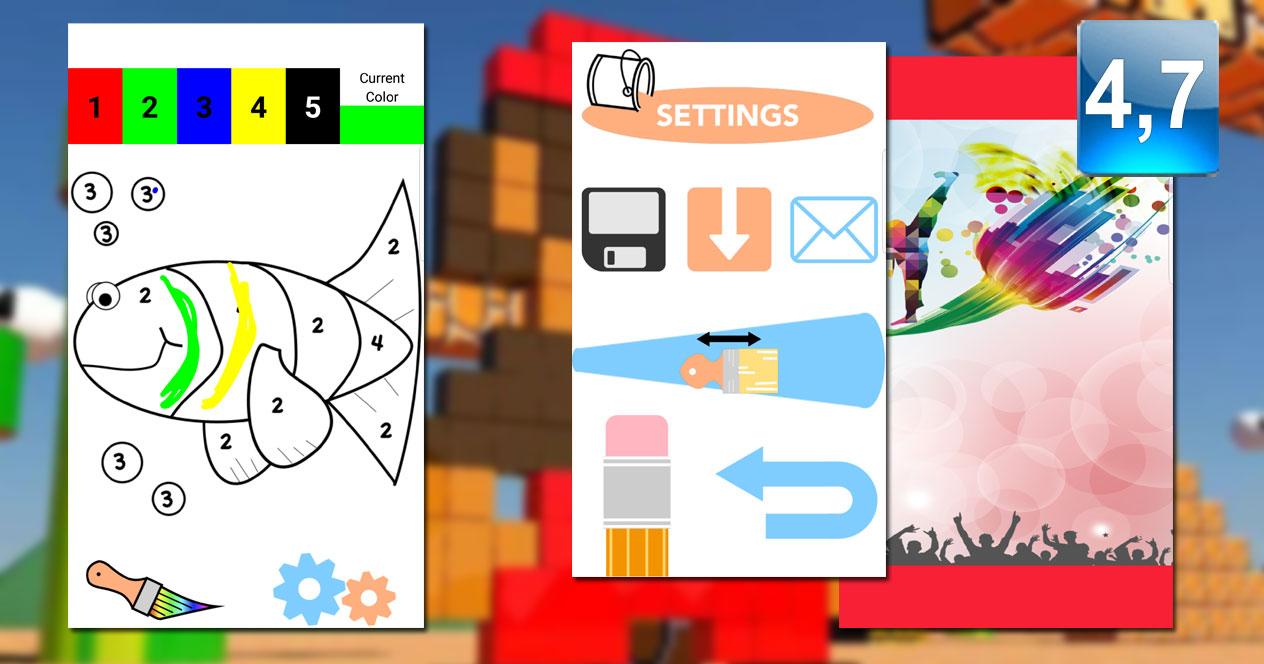Aplicación Color by Number Pixel Art Coloring Sandbox