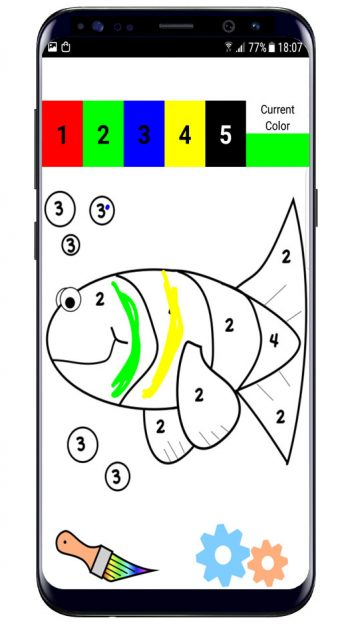 Dibujar con Color by Number Pixel Art Coloring Sandbox