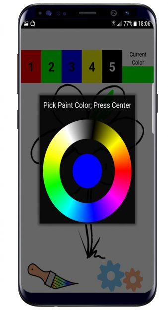 Gradiente color en Color by Number Pixel Art Coloring Sandbox