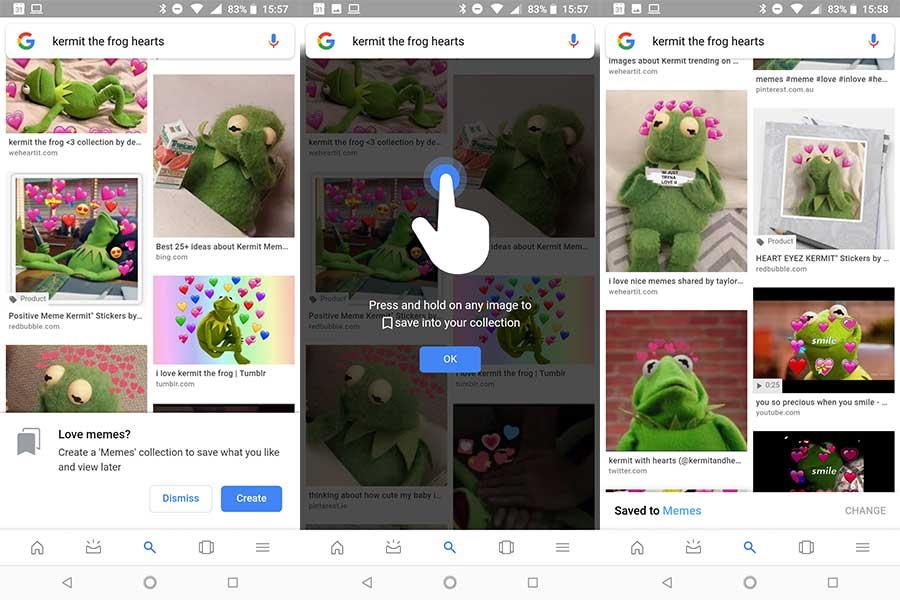 guardar memes usando Google