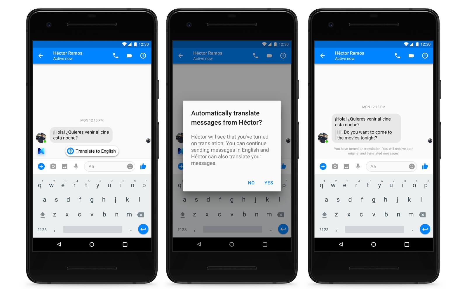 Traductor automático de Messenger