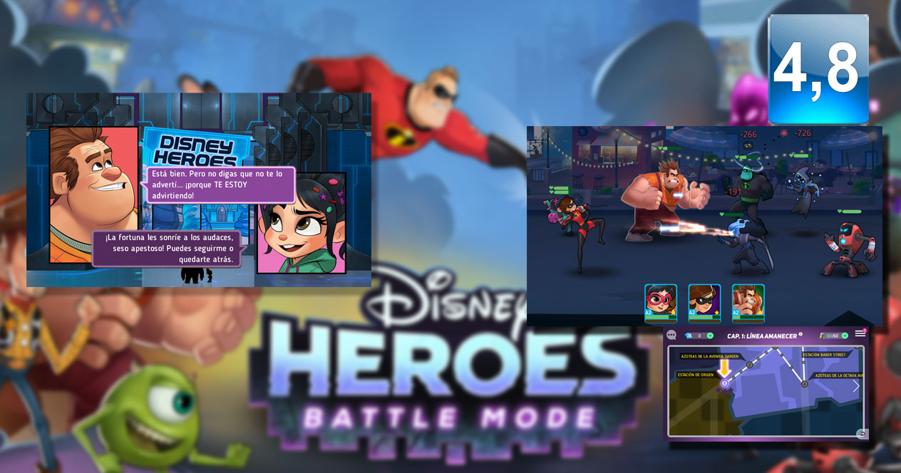 Juego Disney Heroes: Battle Mode
