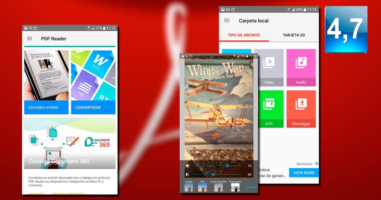 Aplicación PDF Reader – Scan, Edit & Share