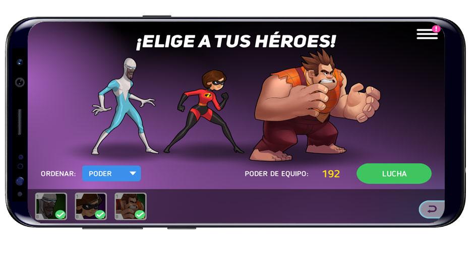 Personajes en Disney Heroes: Battle Mode