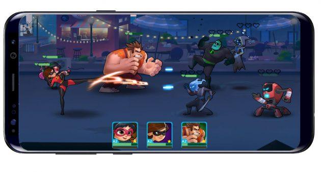 Partida con Disney Heroes: Battle Mode