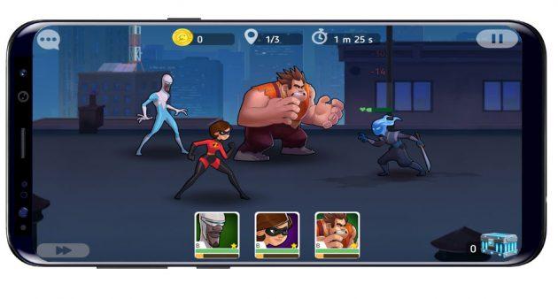 Jugando a Disney Heroes: Battle Mode