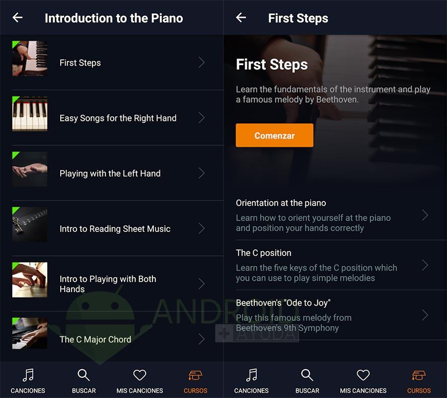 flowkey aplicación piano