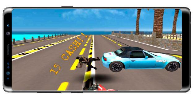 Accidente en el juego Moto Rider Death Racer