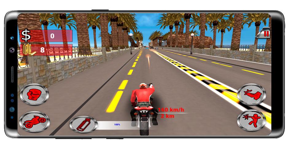 Disparara a una moto en Moto Rider Death Racer
