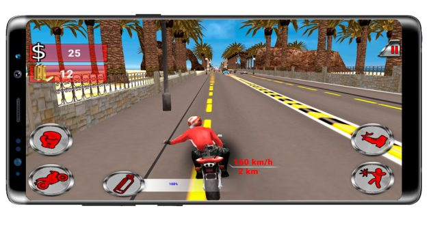 Empujar en Moto Rider Death Racer