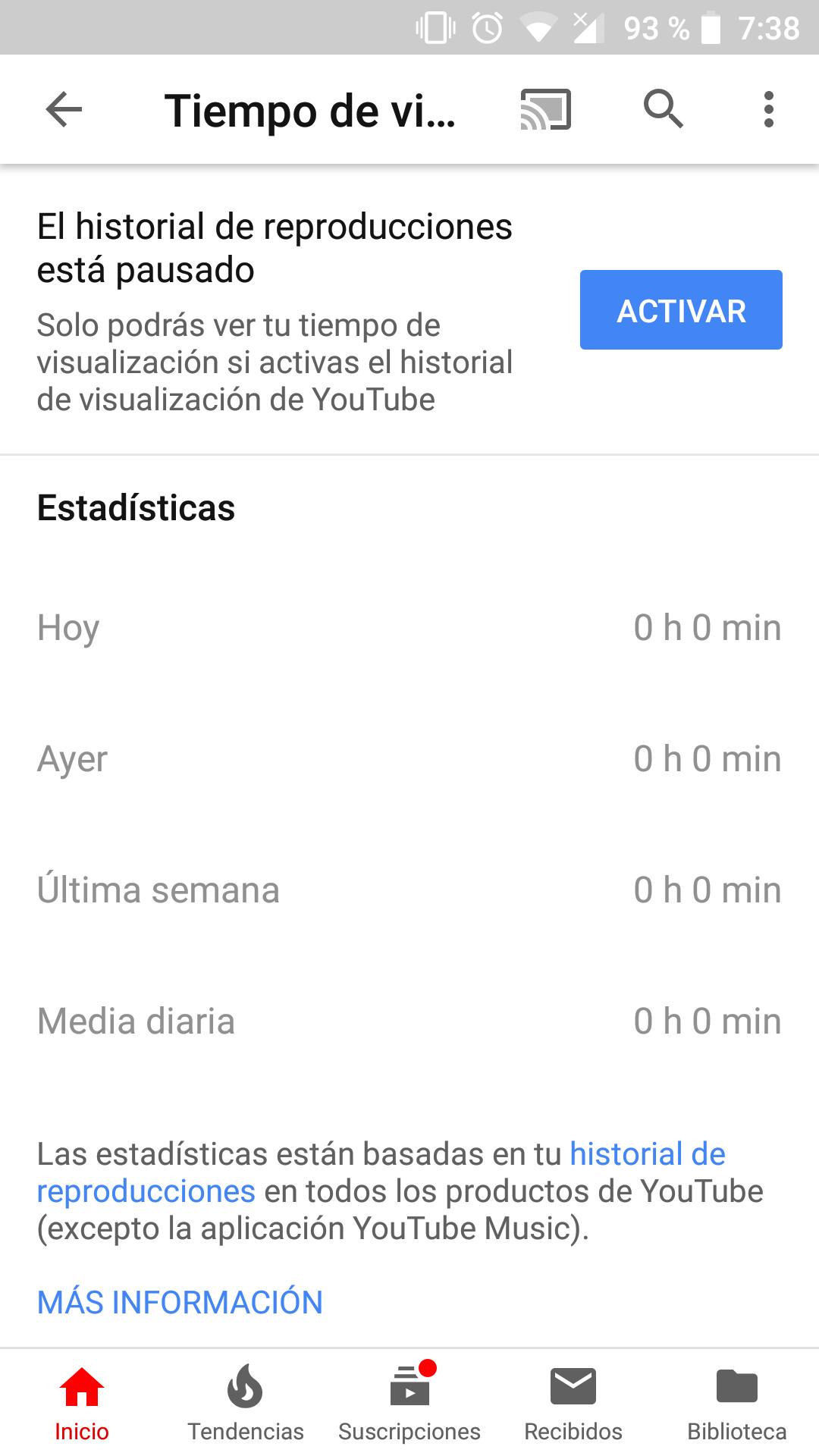 YouTube bienestar digital