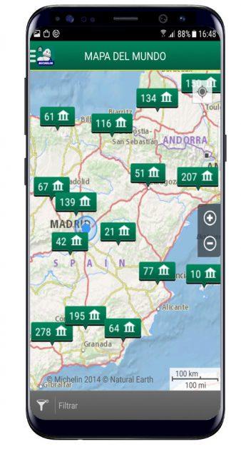 Mapa en Michelin Viajes