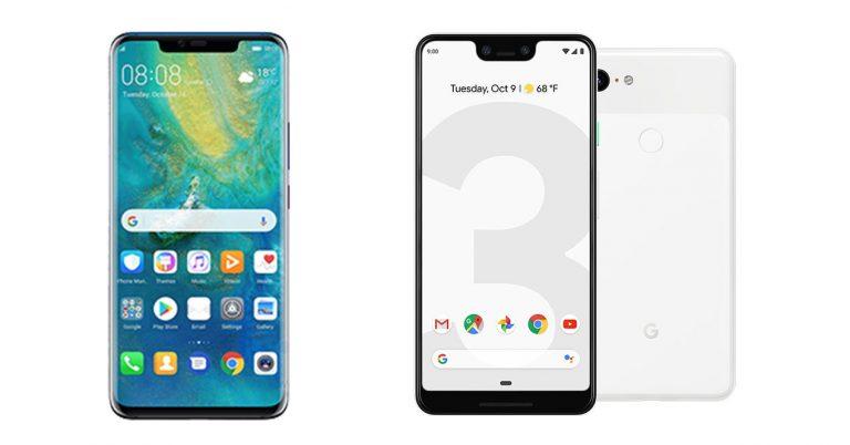 Huawei Mate 20 Pro vs Google pixel 3 xl