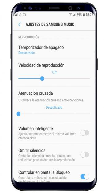 Ajustes de Samsung Music