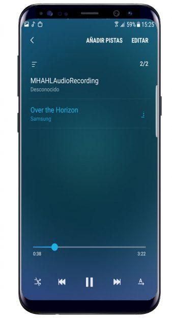 Opciones de Samsung Music