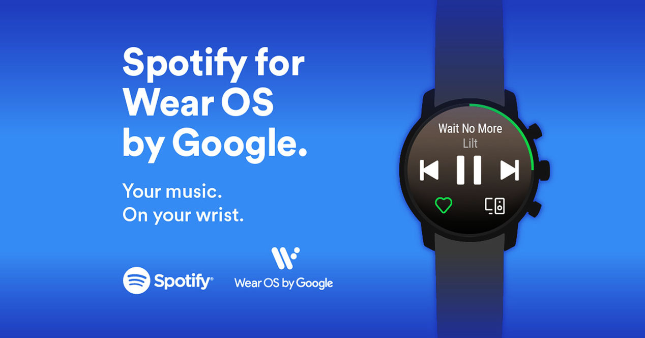 spotify disponible ya para Wear OS