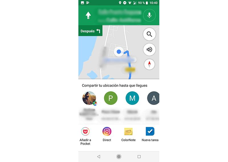 compartir mi ubicación con google maps