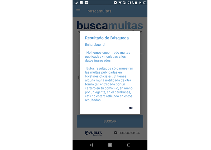 multas de tráfico Android