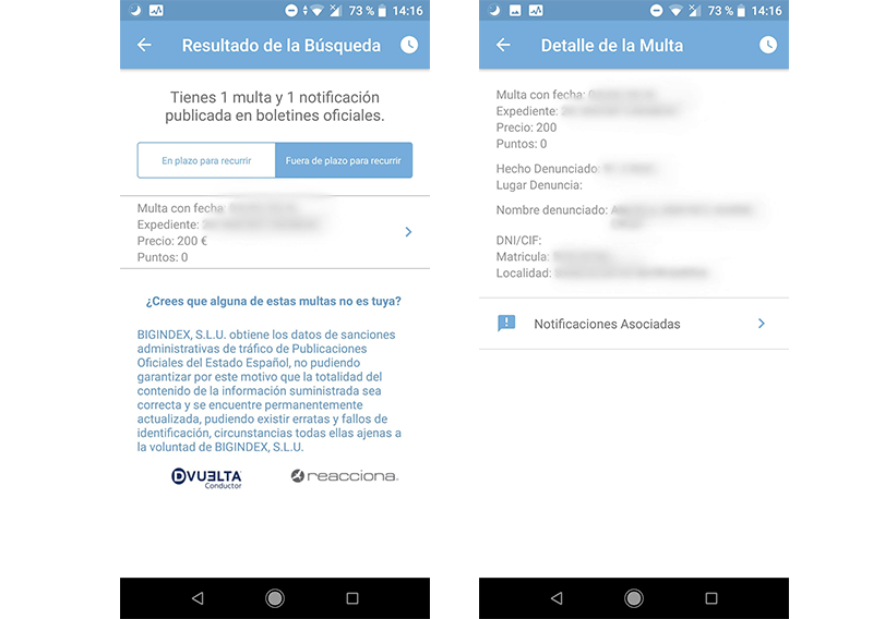 buscamultas: comprueba si tienes multas en tu Android