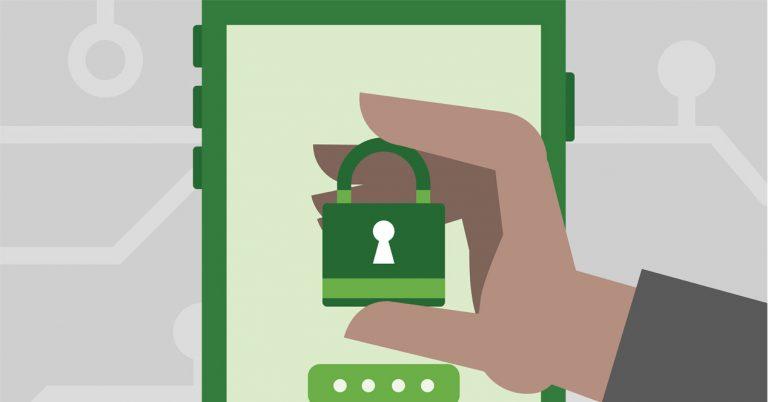 Imagen seguridad en terminal Android