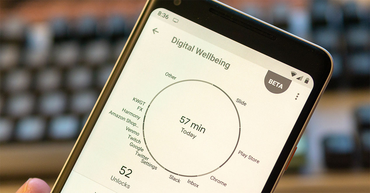 Digital Wellbeing sale de beta