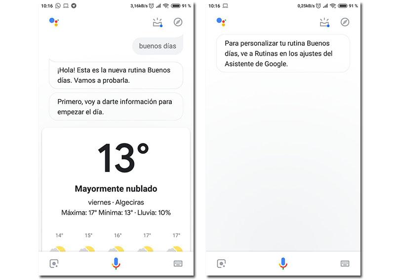 Google Assistant ya cuenta con la rutina de buenos días en español
