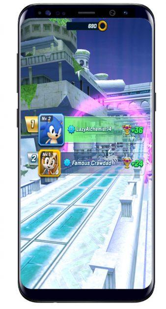 Resultado en Sonic Forces