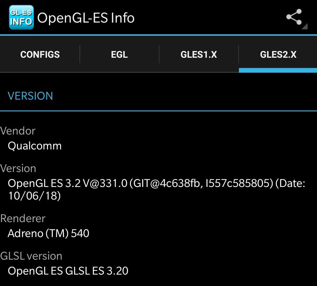 OpenGL-ES Info