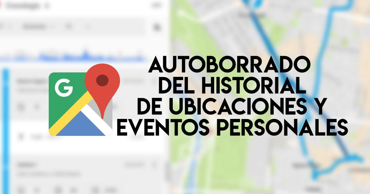 Autoborrado ubicaciones y eventos personales
