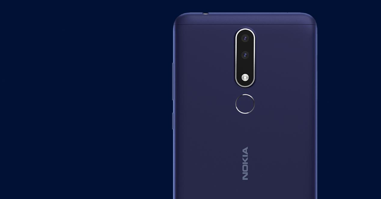 Parte trasera del Nokia 3.1 Plus
