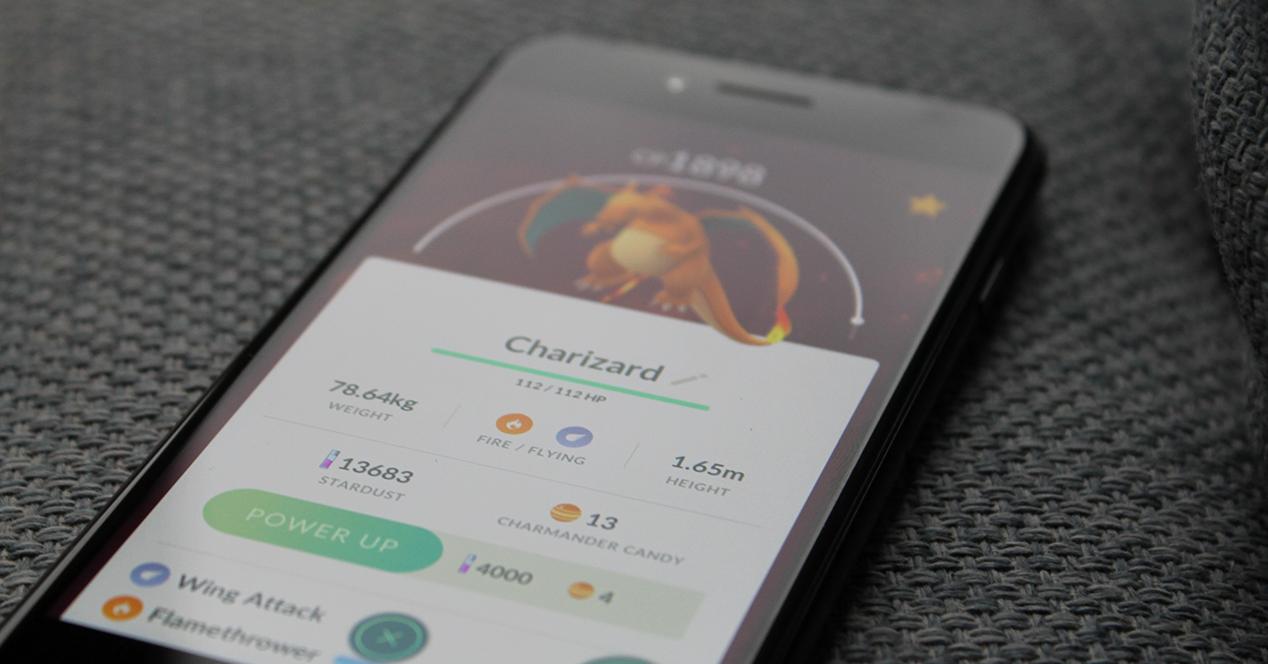 Pokémon Go en un teléfono