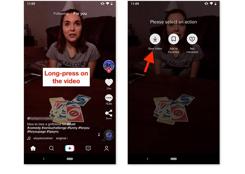 TikTok guardar vídeo fácil