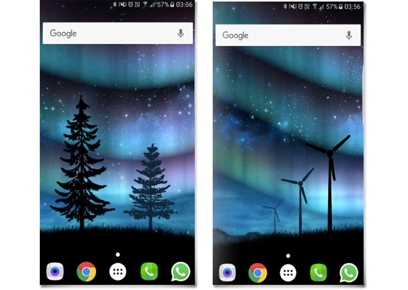 Capturas de pantalla Aurora Boreal