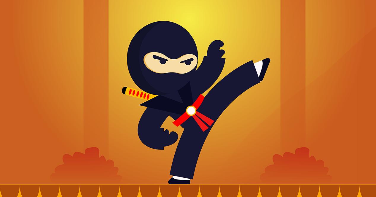 Ilustración de un Ninja