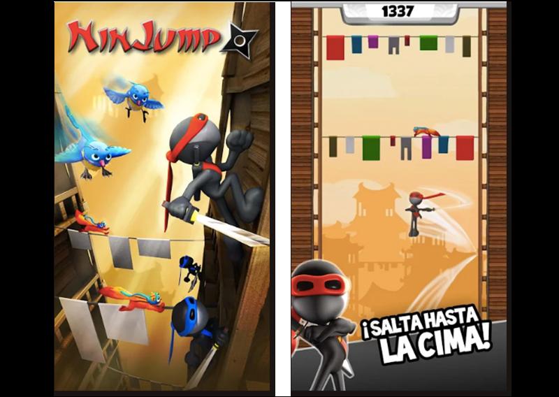 Imágenes oficiales del juego Ninjump