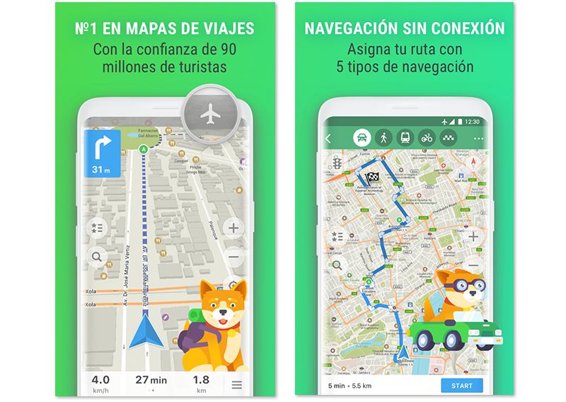 Capturas de pantalla de Maps.me