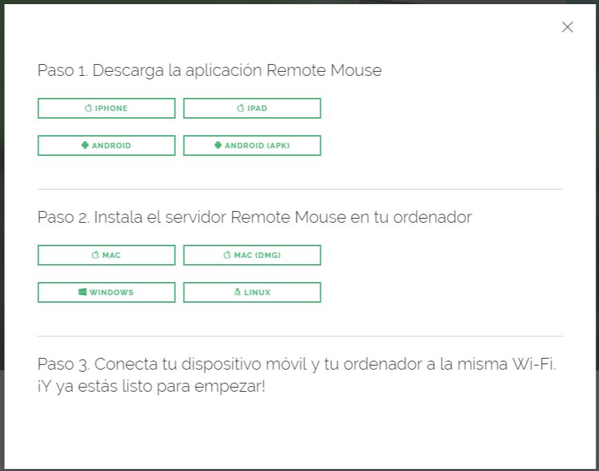 android teclado raton Remote Mouse descargar pc