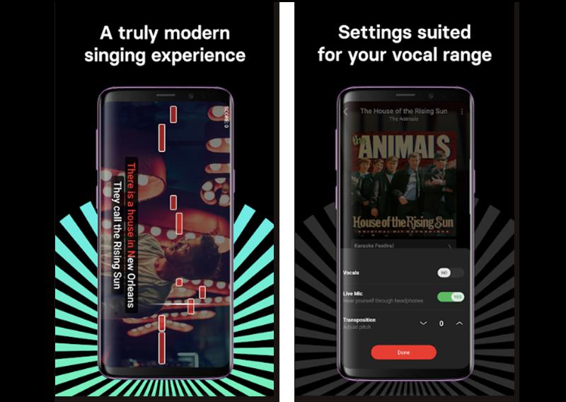 Imágenes oficiales de Singa, app de karaoke para tu móvil