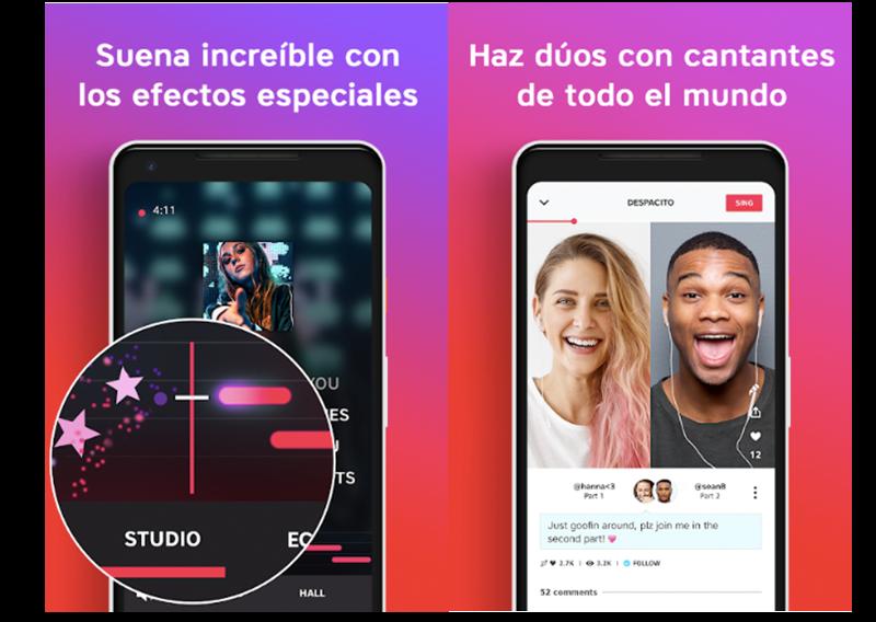 Imágenes oficiales de la aplicación La Voz para cantar desde casa