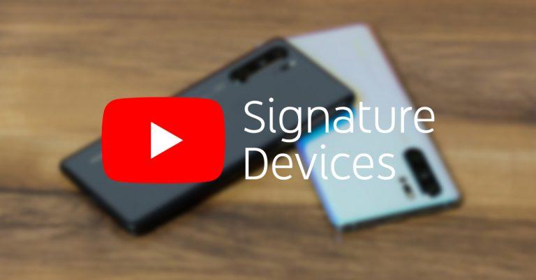 Huawei P30 YouTube Signature