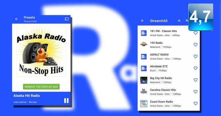 Aplicación StreamItAll Radio