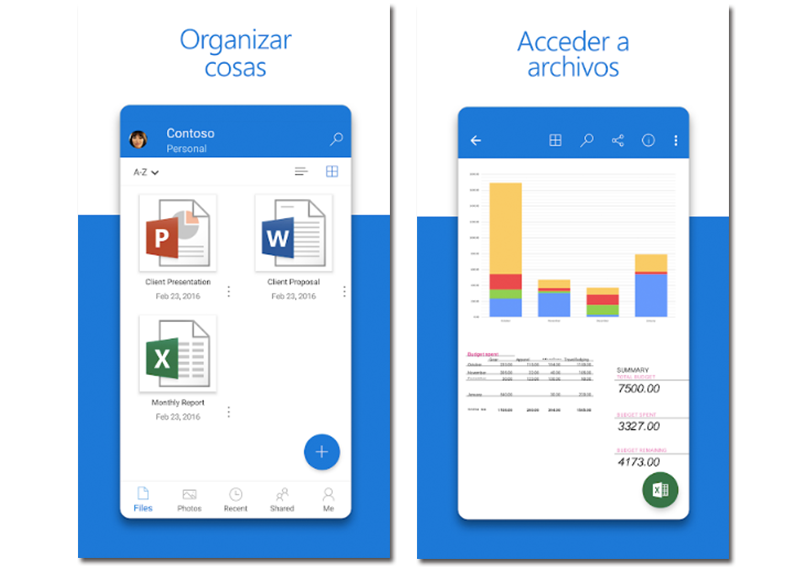 Imágenes de muestra de Microsoft One Drive