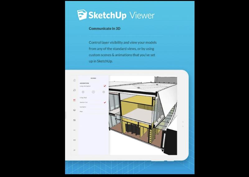 Imagen de presentación de la app SketchUp Viewer