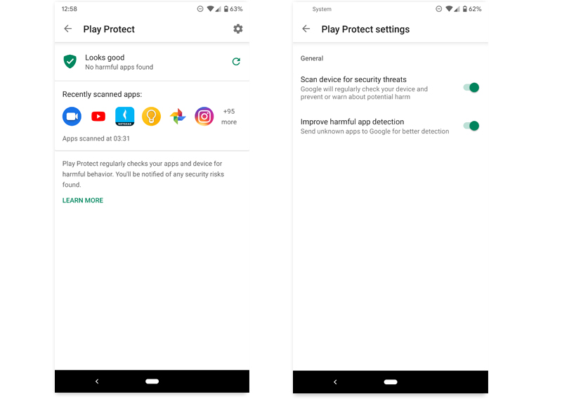 play store descargas simultaneas play protect