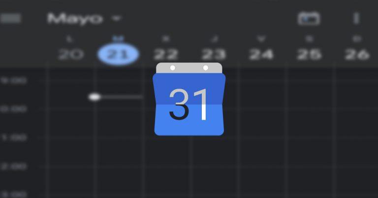 Google Calendar modo oscuro